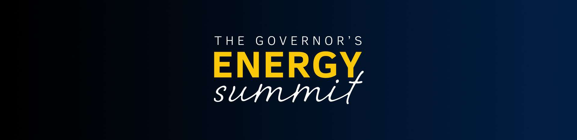 The Governor's Energy Summit